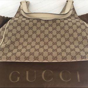 Gucci Beige/Ebony Canvas Tote Bag